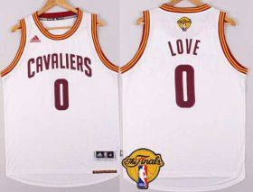 Wholesale Cheap Men\'s Cleveland Cavaliers #0 Kevin Love 2015 The Finals New White Jersey