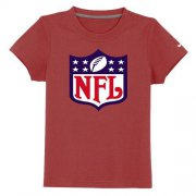 Wholesale Cheap NFL Logo Youth T-Shirt Red