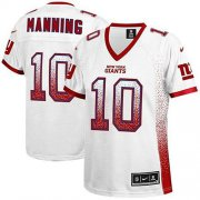 Wholesale Cheap Nike Giants #10 Eli Manning White Women's Stitched NFL Elite Drift Fashion Jersey