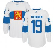 Wholesale Cheap Team Finland #19 Mikko Koskinen White 2016 World Cup Stitched NHL Jersey