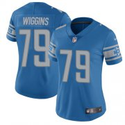 Wholesale Cheap Nike Lions #79 Kenny Wiggins Blue Team Color Women's Stitched NFL Vapor Untouchable Limited Jersey