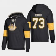 Wholesale Cheap Los Angeles Kings #73 Tyler Toffoli Black adidas Lace-Up Pullover Hoodie