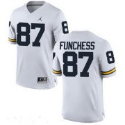 Wholesale Cheap Men's Michigan Wolverines #87 Devin Funchess White Stitched College Football Brand Jordan NCAA Jersey