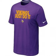 Wholesale Cheap Nike Minnesota Vikings Just Do It Purple T-Shirt