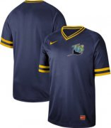 Wholesale Cheap Nike Rays Blank Navy Authentic Cooperstown Collection Stitched MLB Jersey