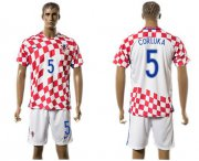 Wholesale Cheap Croatia #5 Corluka Home Soccer Country Jersey