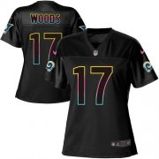 Wholesale Cheap Nike Rams #17 Robert Woods Black Women's NFL Fashion Game Jersey
