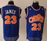 Wholesale Cheap Cleveland Cavaliers #23 LeBron James CavFanatic Blue Swingman Throwback Jersey