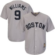 Wholesale Cheap Boston Red Sox #9 Ted Williams Majestic Big & Tall Cooperstown Cool Base Player Jersey Gray