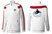Wholesale NHL Vancouver Canucks Zip Jackets White-1