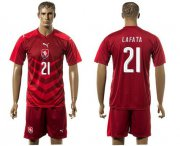 Wholesale Cheap Czech #21 Lafata Red Home Soccer Country Jersey