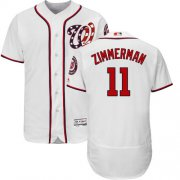 Wholesale Cheap Nationals #11 Ryan Zimmerman White Flexbase Authentic Collection Stitched MLB Jersey