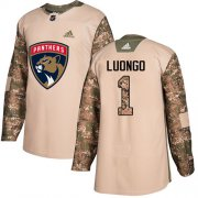 Wholesale Cheap Adidas Panthers #1 Roberto Luongo Camo Authentic 2017 Veterans Day Stitched Youth NHL Jersey