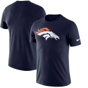 Wholesale Cheap Denver Broncos Nike Essential Logo Dri-FIT Cotton T-Shirt Navy