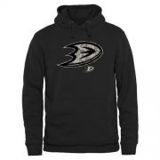 Wholesale Cheap Men's Anaheim Ducks Black Rink Warrior Pullover Hoodie