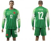 Wholesale Cheap Turkey #12 Tekin Green Goalkeeper Long Sleeves Soccer Country Jersey