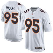 Wholesale Cheap Nike Broncos #95 Derek Wolfe White Men's Stitched NFL Game Event Jersey