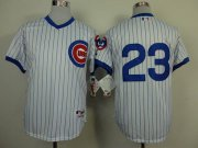 Wholesale Cheap Cubs #23 Ryne Sandberg White 1988 Turn Back The Clock Stitched MLB Jersey