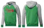 Wholesale Cheap Atlanta Braves Pullover Hoodie Green & Grey