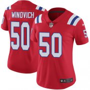 Wholesale Cheap Nike Patriots #50 Chase Winovich Red Alternate Women's Stitched NFL Vapor Untouchable Limited Jersey