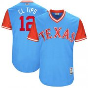 "Wholesale Cheap Rangers #12 Rougned Odor Light Blue ""El Tipo"" Players Weekend Authentic Stitched MLB Jersey"