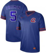 Wholesale Cheap Nike Braves #5 Freddie Freeman Royal Authentic Cooperstown Collection Stitched MLB Jersey