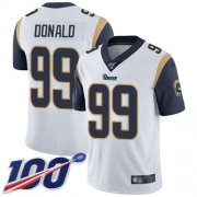 Wholesale Cheap Nike Rams #99 Aaron Donald White Men's Stitched NFL 100th Season Vapor Limited Jersey