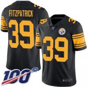 Wholesale Cheap Nike Steelers #39 Minkah Fitzpatrick Black Men's Stitched NFL Limited Rush 100th Season Jersey