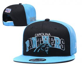Wholesale Cheap Panthers Team Logo Black Blue 1995 100th Anniversary Adjustable Hat YD