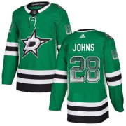 Wholesale Cheap Adidas Stars #28 Stephen Johns Green Home Authentic Drift Fashion Stitched NHL Jersey