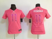 Wholesale Cheap Nike Cardinals #11 Larry Fitzgerald Pink Sweetheart Women's Stitched NFL Elite Jersey