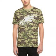 Wholesale Cheap Men's Philadelphia Eagles '47 Camo Alpha T-Shirt