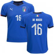 Wholesale Cheap Italy #16 De Rossi Home Kid Soccer Country Jersey