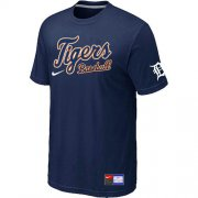 Wholesale Cheap Detroit Tigers Nike Short Sleeve Practice MLB T-Shirt Midnight Blue