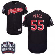 Wholesale Cheap Indians #55 Roberto Perez Navy Blue Flexbase Authentic Collection 2016 World Series Bound Stitched MLB Jersey
