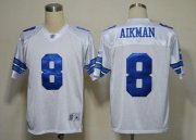 Wholesale Cheap Cowboys #8 Troy Aikman White Legend Throwback Stitched NFL Jersey