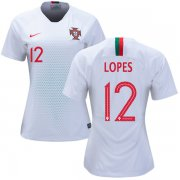 Wholesale Cheap Women's Portugal #12 Lopes Away Soccer Country Jersey