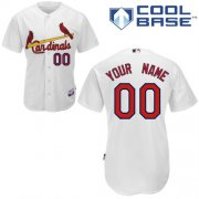 Wholesale Cheap Cardinals Customized Authentic White Cool Base MLB Jersey (S-3XL)