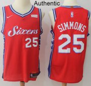 Wholesale Cheap Nike Philadelphia 76ers #25 Ben Simmons Red Statement Edition NBA Swingman Jersey NBA Authentic Jersey