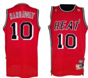 Wholesale Cheap Miami Heat #10 Tim Hardaway Red Swingman Throwback jersey