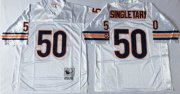 Wholesale Cheap Mitchell&Ness Bears #50 Mike Singletary White Small No. Throwback Stitched NFL Jersey