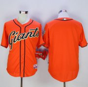 Wholesale Cheap Giants Blank Orange Cool Base Stitched MLB Jersey