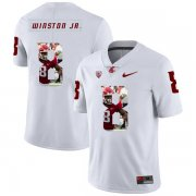 Wholesale Cheap Washington State Cougars 8 Easop Winston Jr. White Fashion College Football Jersey