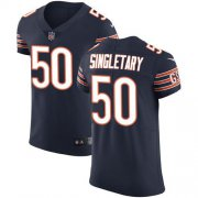 Wholesale Cheap Nike Bears #50 Mike Singletary Navy Blue Team Color Men's Stitched NFL Vapor Untouchable Elite Jersey