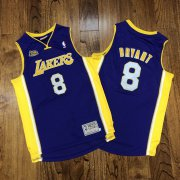 Wholesale Cheap Men's Los Angeles Lakers #8 Kobe Bryant Purple 2000-01 NBA Champions Patch Hardwood Classics Jersey