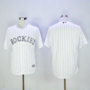 Wholesale Cheap Rockies Blank White New Cool Base Stitched MLB Jersey
