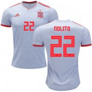 Wholesale Cheap Spain #22 Nolito Away Soccer Country Jersey