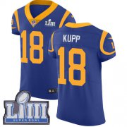Wholesale Cheap Nike Rams #18 Cooper Kupp Royal Blue Alternate Super Bowl LIII Bound Men's Stitched NFL Vapor Untouchable Elite Jersey