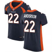 Wholesale Cheap Nike Broncos #22 C.J. Anderson Navy Blue Alternate Men's Stitched NFL Vapor Untouchable Elite Jersey