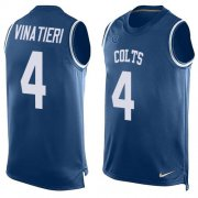 Wholesale Cheap Nike Colts #4 Adam Vinatieri Royal Blue Team Color Men's Stitched NFL Limited Tank Top Jersey